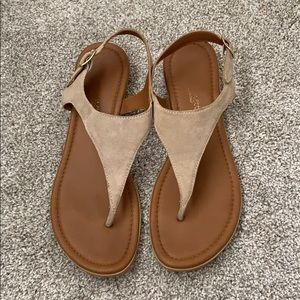 A. Giannetti Tan Suede Sandals
